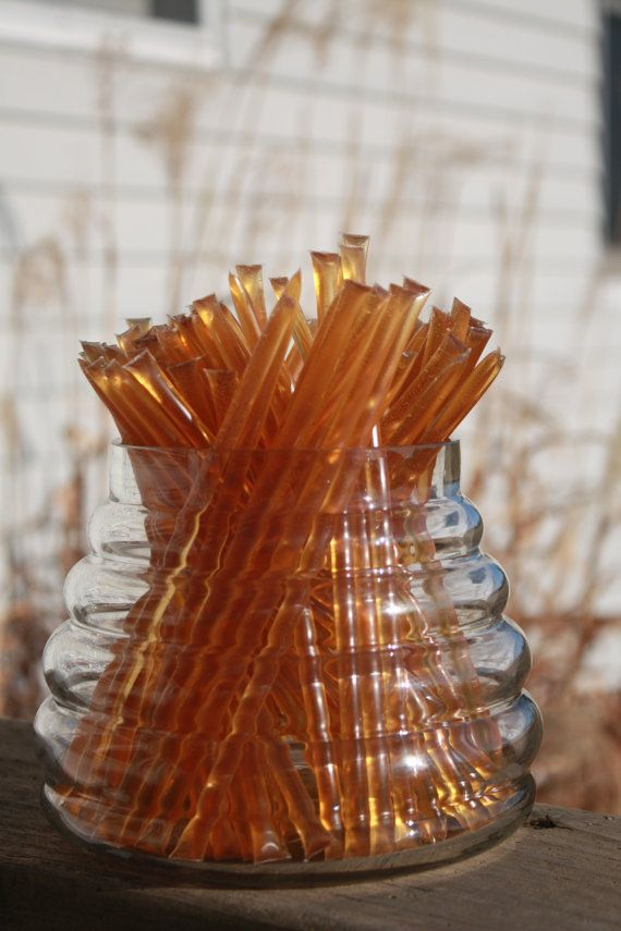 Listing for 25 Summer Wildflower Honey Sticks  What a great snack anytime! These pure wildflower honey sticks are great on the go, throw them
