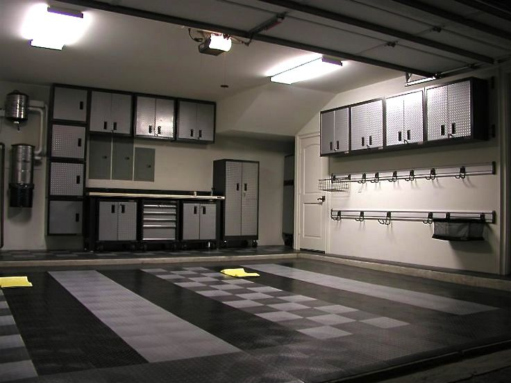nicely done garage theme with racedeck and gladiator the garage journal board - Garage Design Ideas Pictures