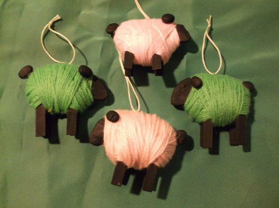Christmas Decorations Yarn Sheep Salt Dough