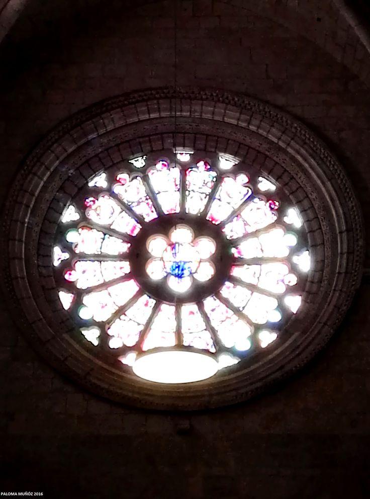 Catedral de Santa Tecla, Tarragona.  Rosetón. Cathedral of Santa Tecla, Tarragona.  Rosette.