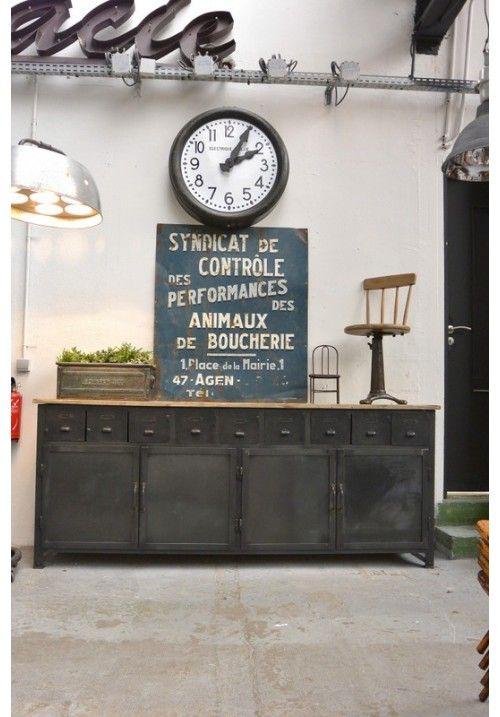 deco vintage industriel. Black Bedroom Furniture Sets. Home Design Ideas