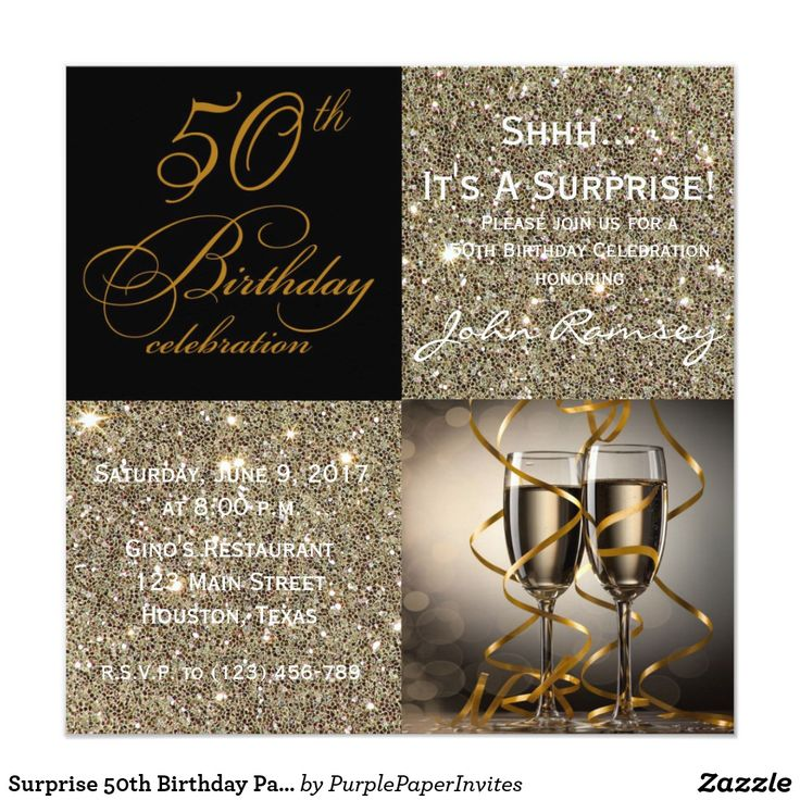 company christmas party invitation templates%0A Surprise   th Birthday Party Invitations