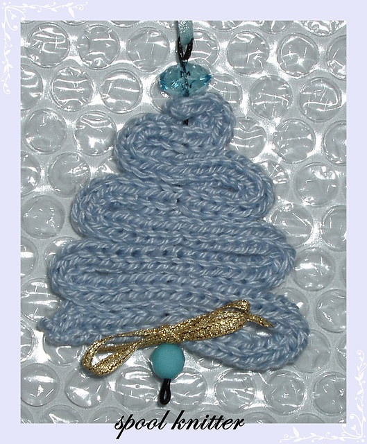 Knitted with tricotin - Christmas Tree
