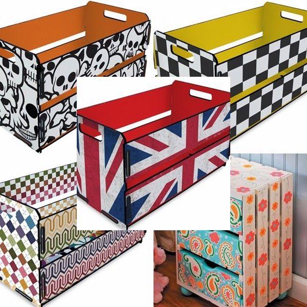 Catraca Livre: Estantes e prateleiras de caixotes DIY