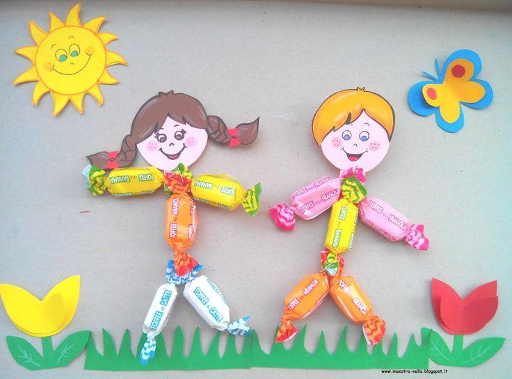 Maestra nella dolci bambini lavoretti per bambini for Idee per cartelloni scuola infanzia