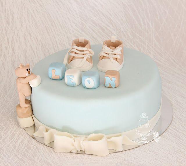 Christening cake baby boy
