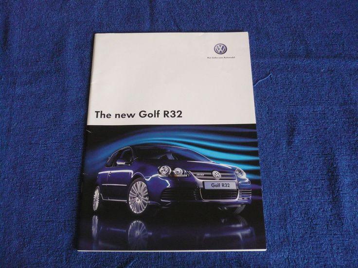 Volkswagen Golf Mk5 R32 2005 Brochure Prospekt The new Golf R32
