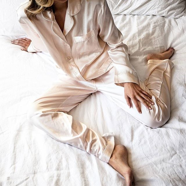 Choosing to wear our beautiful pure Silk PJ's as you begin & end your day, is a simple way to take care and feel good about yourself. #sweetdreams ✨ Link in our profile. #natalijastyle