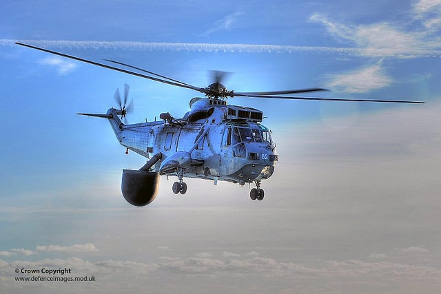 Royal Navy AEW Seaking Helicopter from 849 Naval Air Squadron by Defence Images, via Flickr