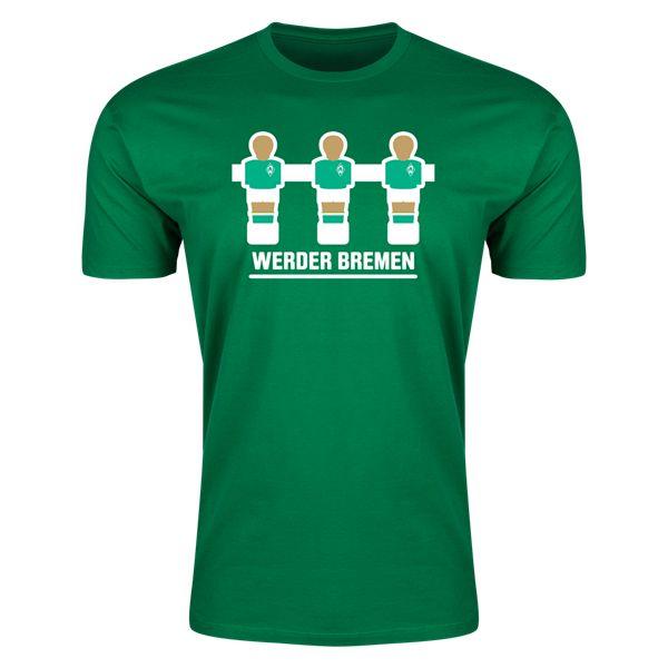 Werder Bremen Foosball Mens Fashion T-Shirt (Green)