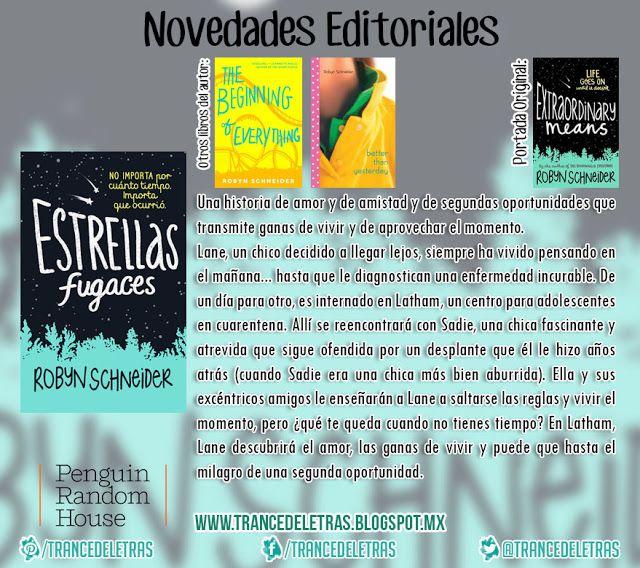 """""""Estrellas Fugaces"""" de Robyn Schneider"""