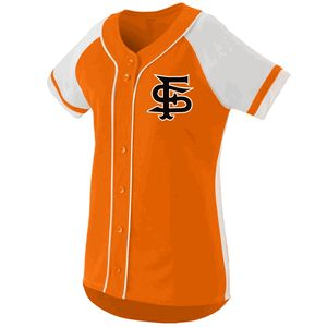 Augusta 1665 Winner Faux Button Softball Jersey