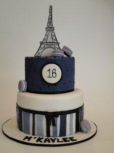 Paris Themed 16th Birthday Cake  #pariscake  #purple  #sweet16