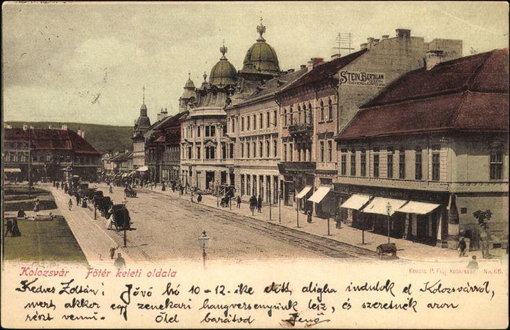 """Főtér keleti oldala (anno """"Status paloták"""" )_Kolozsvár"""