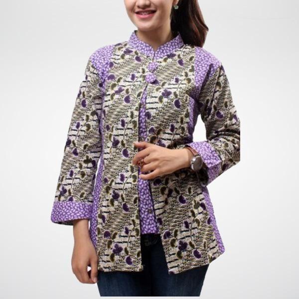 Model Baju Batik Kerja Atasan Muslim: Model Baju Atasan Batik Wanita Kantor