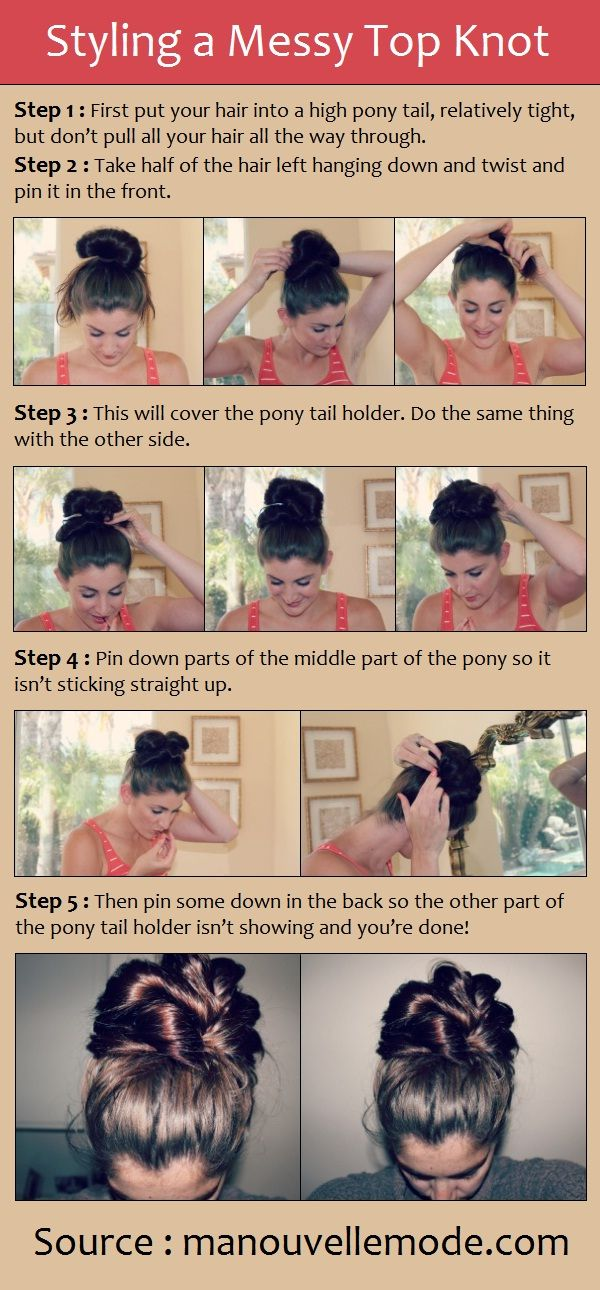 Styling a Messy Top Knot