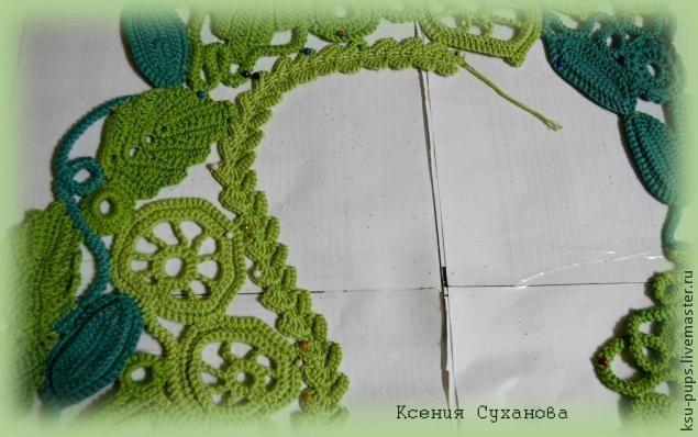 Итак , это вторая часть мастер-класса жилета. Первую часть вы можете посмотреть здесь http://www.livemaster.ru/topic/452643-elementy-dlya-novoj-raboty-stsepnym-polotnom-iz-hlopka-kryuchkom?vr=1&inside=1 . В первой части рассказывалось, как вязать элементы, из которых состоит полотно. Вторая часть посвящается сшиванию жилета. Надо приготовить выкройку нужного размера из бумаги или ткани,…
