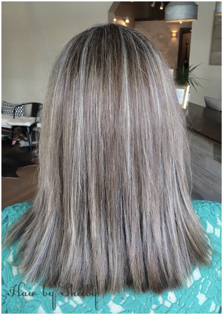 Step 2 in transitioning to her natural grey!  Facebook: Hair by Shelby - Tryst…