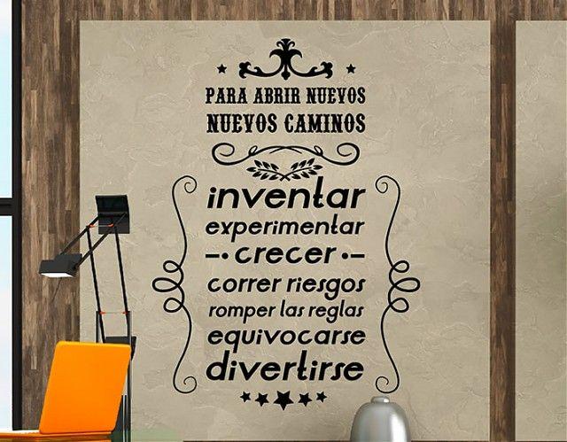 Ebre Vinil #Vinilos #Frases de #Motivación para abrir nuevos caminos 03194