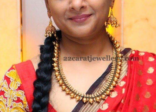 Jewellery Designs: Pretty Lady in Palaka Mala