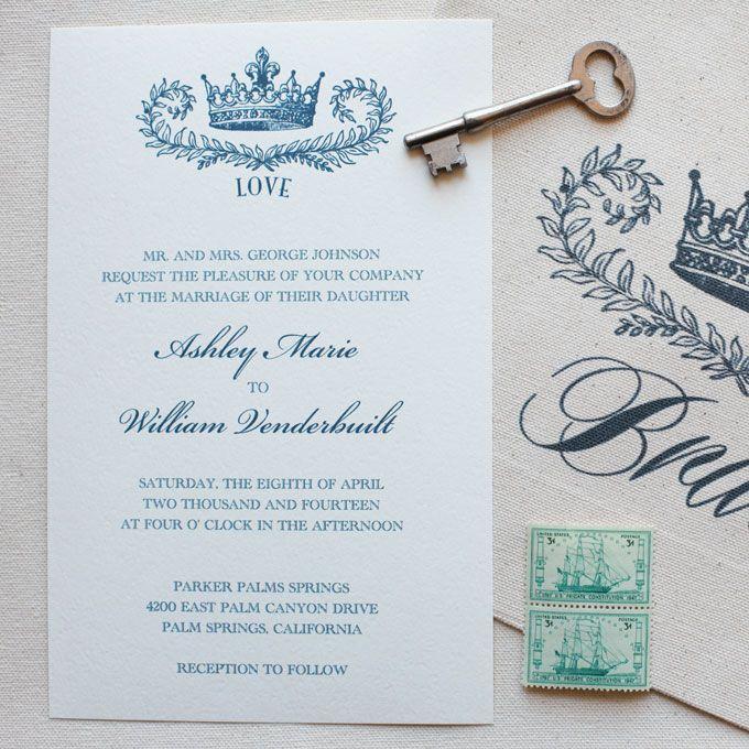 Brides.com: Royal Wedding Invitations. Bargain Alert! This Regal Invitation  Is A