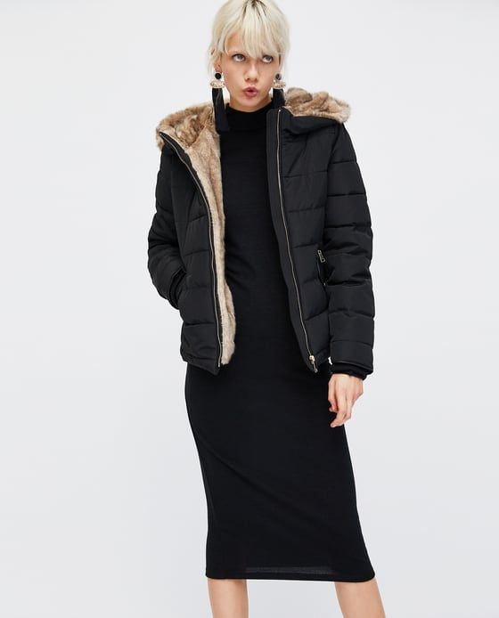 Image 2 of PUFFER COAT WITH HOOD from Zara