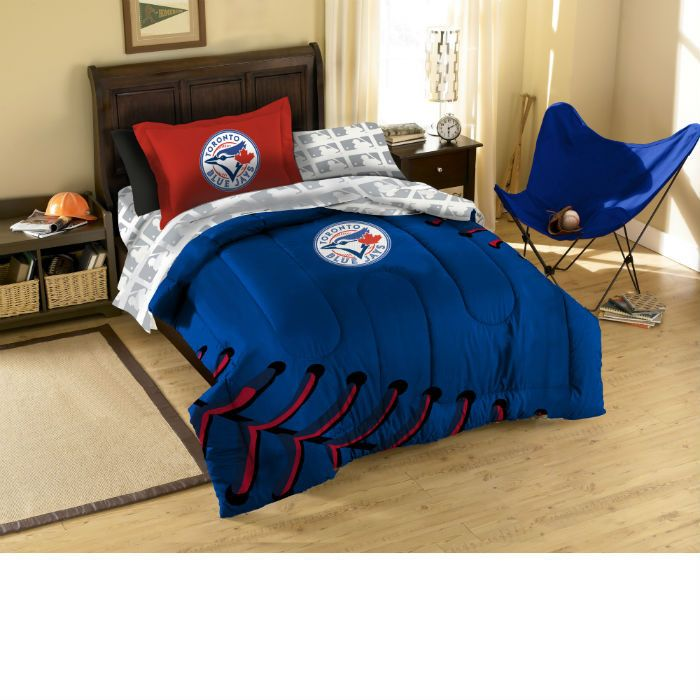 Toronto Blue Jays Contrast Twin Bed in a Bag only $99.95 at www.SportsFansPlus.com