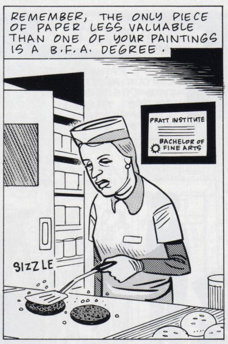 Art School Confidential / Daniel Clowes  Originally appeared in issue #7 of Eightball. (via ultrabrilliant)
