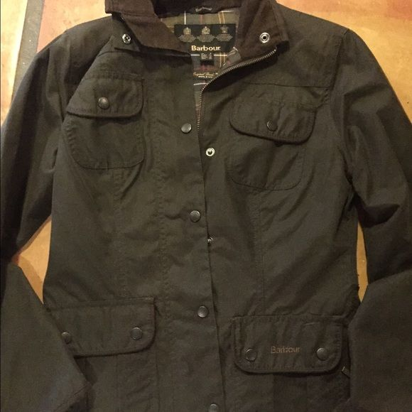 Barbour jacket Too small. Excellent condition worn twice. Hunter green/olive color Barbour Jackets & Coats