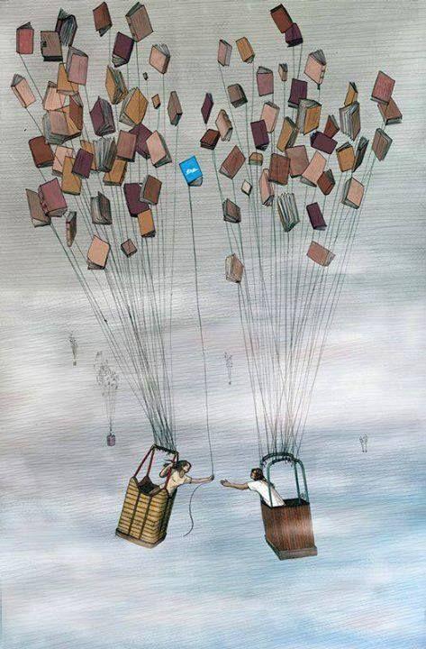 globos de libros