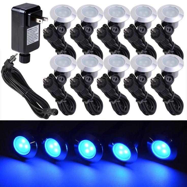 10 Pack LED Deck Lighting Fixture W/ Transformer Color Opt