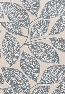 Pebble Leaf Wallpaper, Boathouse Blue - contemporary - wallpaper - MissPrint