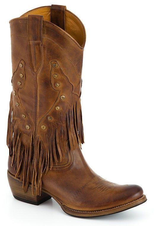 #Western Sancho Abarca Boots 2315 Me Too Damenstiefel braun #Cowboy #Fransenstiefel http://www.sancho-store.ch
