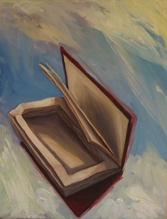 Ben Sheers  Book study 1 - 2012  Oil on canvas  41 x 36 cm