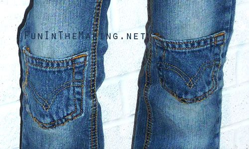 Jean Pocket knee Patches