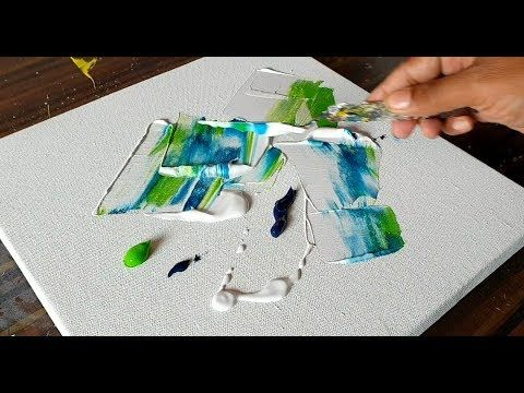 Easy Abstract Floral Painting / Acrylic Paints and Trowel / Demonstration / Project 365 days / Day No. 0246 – YouTube