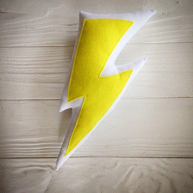 Lightning Cushion // www.facebook.com/milkkmoney.com