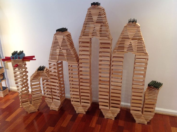 Dragon? Snake? Caterpillar? With KAPLA you use your imagination.  #kids #gifts #blocks #Kapla
