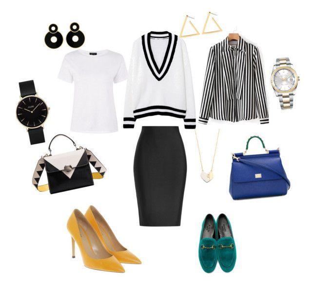 """Unbenannt #20"" by shestopalova-marina on Polyvore featuring Mode, Roland Mouret, MANGO, Topshop, Bally, Gucci, Dolce&Gabbana, CLUSE, Rolex und Tory Burch"