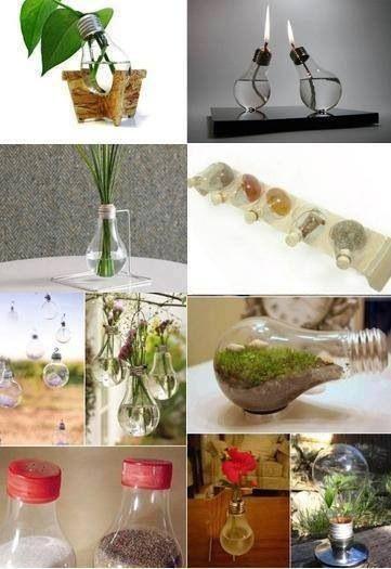 Manualidades con focos 1001 diys pinterest manualidades ideas para and ideas - Manualidades hogar decoracion ...