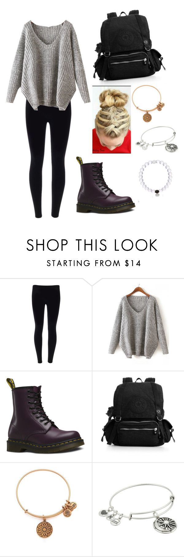 """Regular school day"" by carla1911 ❤ liked on Polyvore featuring Dr. Martens, Kipling, Alex and Ani, women's clothing, women, female, woman, misses and juniors"