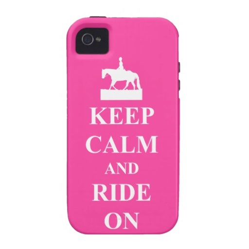 Keep calm and ride on, pink vibe iPhone 4 case