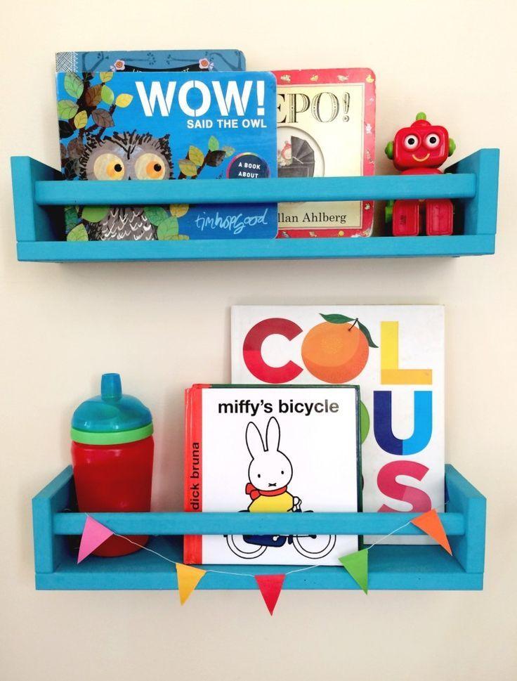 mommo design: IKEA HACKS FOR KIDS - Bekvam spice rack for books