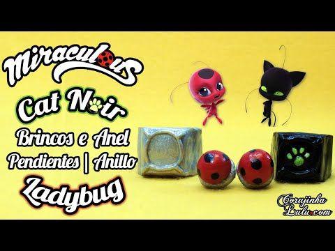 DIY Prodigiosa: cómo hacer pendientes / aretes de la Ladybug y el anillo de Chat Noir - YouTube