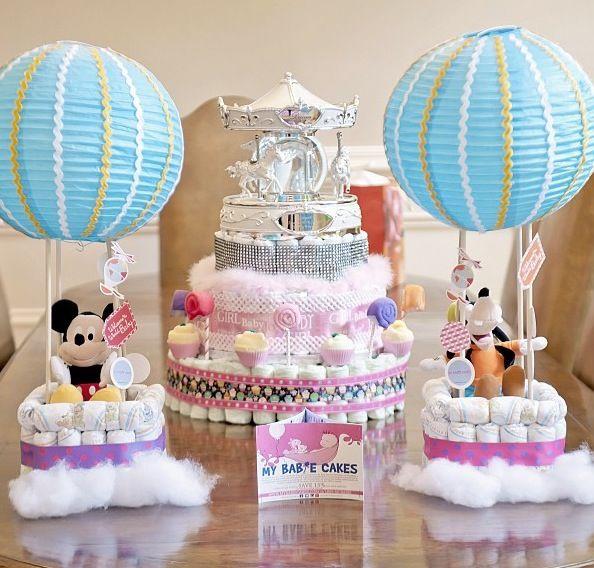 Beautiful Carnival/Disney Baby Shower Centerpiece