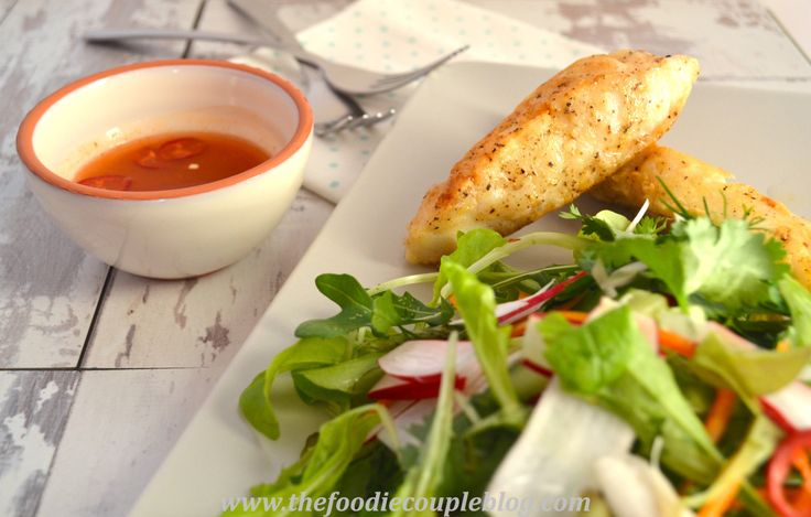 Salt and Pepper Cod with Hot  Sour Salad