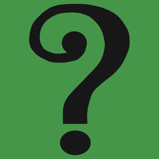 Vintage Riddler Question Mark.