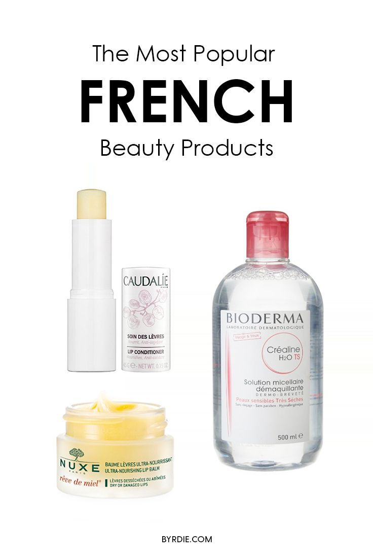 The most popular French beauty products