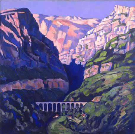 """Maritime Alps, Vence, No. 9,"" Marsden Hartley, 1925 - 1926, oil on canvas, Speed Art Museum."