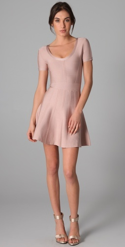 This Herve Leger Scoop Neck dress is perfect for NYE!